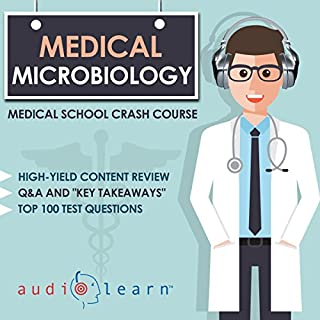 Medical Microbiology     Medical School Crash Course              By:                                                                                                                                 AudioLearn Medical Content Team                               Narrated by:                                                                                                                                 Deb Conroy                      Length: 6 hrs and 53 mins     10 ratings     Overall 4.4