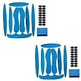 YXHZVON Kit de Espuma para Acolchado de Casco, 2 Juegos de Almohadillas de Espuma para Casco con Almohadillas de Velcro, Accesorios para Cascos de Ciclismo para Bicicleta y Motocicleta (Azul)