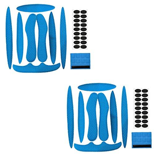 YXHZVON Klettverschlüssen Helm Polster-Schaumstoff-Kit,2 Sätze Helm Bewegung Mit, Schwamm Helmpolster für Fahrrad-Motorrad Fahrradhelm