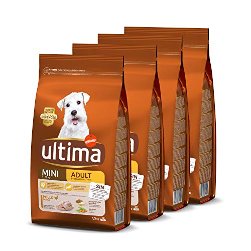 Ultima Cibo per Cani Mini Adulti con Pollo, Pack 4 x 1,5kg
