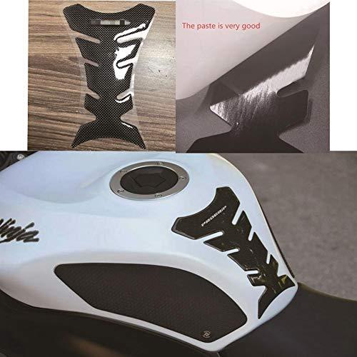 Voor SUZUKI YAMAHA 3D gel olie motorfiets tank pad bescherming sticker klein formaat imitatie carbon fiber PROGRIP applicaties (kleur: 1)