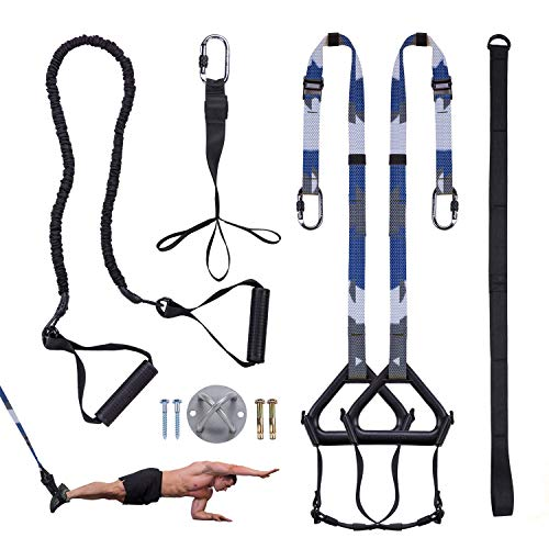 Futureup Bodyweight Fitness Resistance Trainer Kit Extension Strap, Complete Training Straps Kit for...