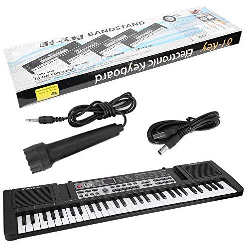 Tastiera digitale a 61 tasti, tastiera digitale portatile elettronica per bambini Ragazza principianti con organo elettronico e giocattolo musicale multifunzione