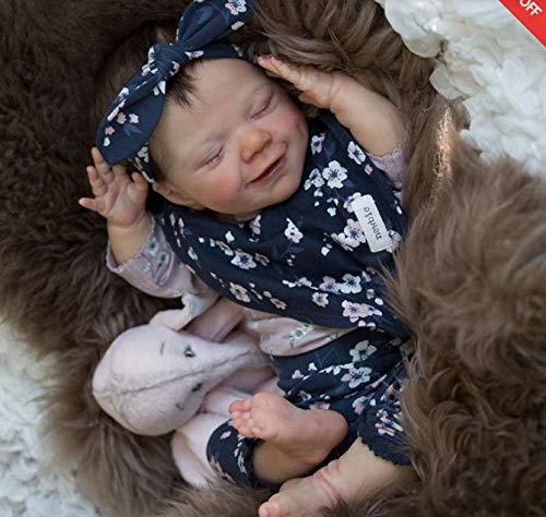 Reborn Babypuppen 50cm Neugeborene Puppe-weiche voller Silikon-Körper Naturgetreue Nurturing Puppen Leicht Waschbar Kleinkind-Puppe Weihnachtsgeschenke