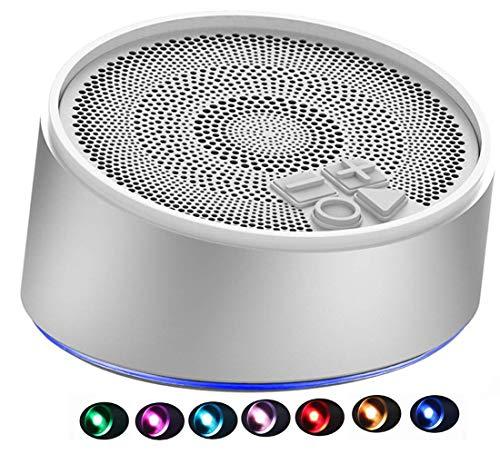Bluetooth Lautsprecher - AILINA S7 Mini tragbare wiederaufladbare Lautsprecher mit TWS Farbwechsel LED-Leuchten, eingebautes Mikrofon für MP3-Player, Smartphones, Pads, Laptops