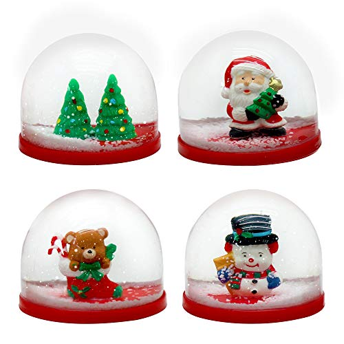 THE TWIDDLERS 4 Mini Christmas Snow Globes - 4 small...