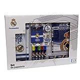 Real Madrid Set de Papelería 20 pcs Accesorios de Sobremesa Complementos de Oficina, Multicolor (Multicolor)