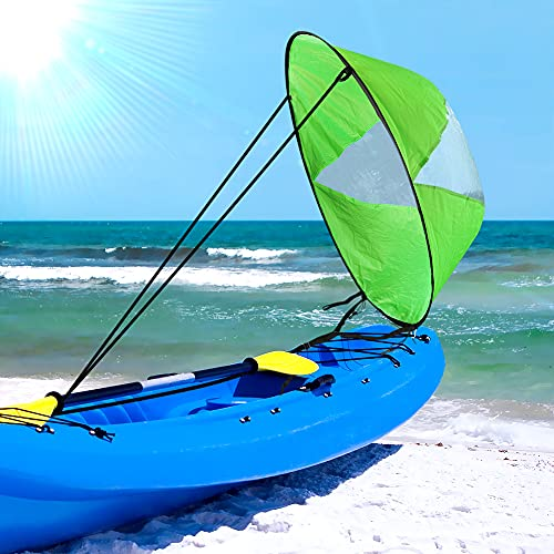 icyant Vela plegable de 108 cm (42') Kayak Wind Paddle Board Vela para botes Kayak Canoe con funda para exteriores