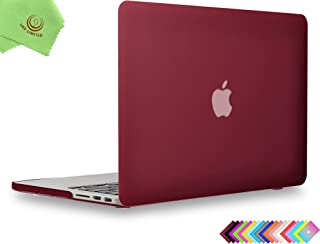 UESWILL Matte Hard Shell Case for MacBook Pro (Retina, 15 inch, Mid 2012/2013/2014/Mid 2015), Model A1398, No CD-ROM, No Touch Bar, Wine Red