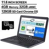 2020 Newest Asus Chromebook 11.6 Inch Laptop, MediaTek MT8173C 2.1GHz, 4GB RAM, 32GB eMMC, WiFi, Bluetooth, Webcam, Chrome OS + NexiGo 128GB MicroSD Card Bundle