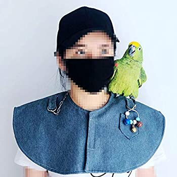 MOVKZACV Protection d'épaule et de bras pour perroquet - Protège les épaules des perroquets - Protège les bras et les morsures - Coussinet d'épaule anti-morsure pour aras (coussinets d'épaule) - Bleu