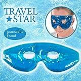 travelstar: patentierte Premium-Gel-Maske & Schlafmaske & Augenmaske | Kälte- & Wärmetherapie für geschwollene Augen + Kopfschmerzen (TS-C-1000) Kühlmaske Coolpack Cool Pack | Gelmaske |...