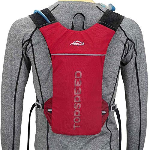 YJIUJIU - Sac à dos d'hydratation étanche - Sac à dos de vélo - Sac à dos étanche - Pour cyclisme, sac à dos de course et alpinisme, marathoner en plein air - Convient pour homme et femme L Rouge