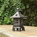 Adorno de jardín Lámpara de Piedra Japonesa Candelabro Cuatro Luces de Esquina Lámpara de decoración de Estatua 15 * 19 cm
