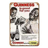 1968ギネススタウトビールレトロビンテージティンサイン