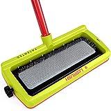 LeBrush 2.0 Universal Pet Dog Cat Hair Remover Brush Broom Tool, Multi-Functional Carpet & Fabric Cleaning Broom Brush Tool for Picking up Cat, Dog, Pet Hair Fur with Vacuum Cleaner Adapter (Green)