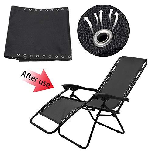 Banane - Tela de repuesto para silla de ocio, para sillas no pesadas, 63 x 17 pulgadas, color negro