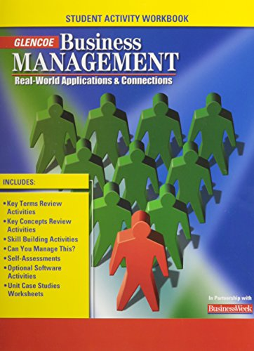 Download Business Management: Real-World Applications and Connections, Student Activity Workbook 0078681073