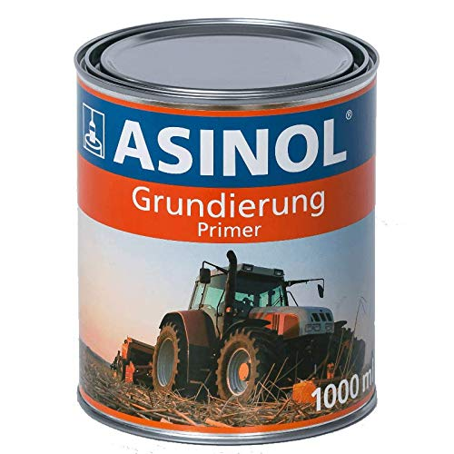 ASINOL GRUNDIERUNG GRAU 1000 ml Kunstharzlack Farbe Lack 1l Liter Dose