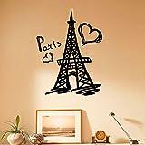 Paris Tour Wall Decal Vinyle Autocollants Paris Symbole Maison intérieur France Design Art peintures murales Chambre Salon décoration Murale