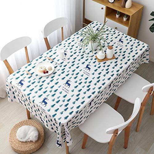 Polyester Tafelzeil Waterdicht Geruit Tafelkleed Keuken Eetkamer Decoratieve Tafelkleed Restaurant 100X140cm
