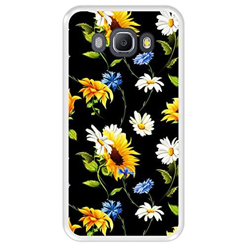 Hapdey Funda Transparente para [ Samsung Galaxy J5 2016 ] diseño [ Patrón Floral, Flores Multicolores 2 ] Carcasa Silicona Flexible TPU