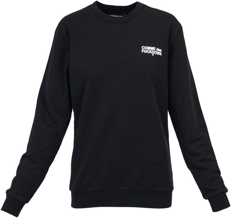Comme Des Fuckdown Women's CDFD141BLACK Black Cotton Sweatshirt