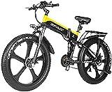 Bicicleta Eléctrica 48V 1000W Bici eléctrica Bici de montaña eléctrica 26 pulgadas de grasa Neumático E-bicicleta 21 velocidades Playa Cruiser Hombre Deportes Mountain Bike Batería de litio Batería Hi