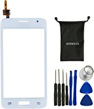 Sunways Glass Lens Screen with Touch Digitizer Replacement for Samsung Galaxy Core 2 g355 G355h(White) with Device Opening Tools