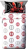 Marvel Deadpool Invasion 4 Piece Queen Sheet Set White/Red/Gray