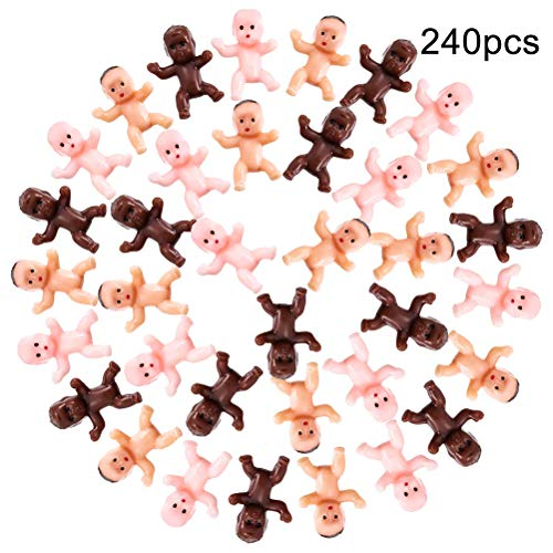Daxoon mini babyfiguur plastic baby badpop speelgoed voor cake decoratie party decoratie, baby baden