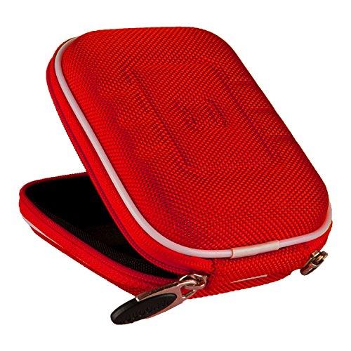 VanGoddy Semi Hard Nylon Carrying Case for Nikon Coolpix S33 Digital Camera (Red)
