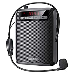 CLEAR AND LOUD SOUND: Your voice will definitely be heard in every corner with our professional portable voice amplifier! The sound is perfectly clear, without background noise, and covers 10000sq. ft / 1000sqm, so you can make your voice be heard by...