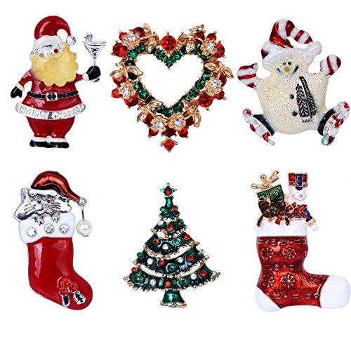 Elegant Rose 6spilla colorato natalizia, regalo per decorazioni di Natale ornamenti regali