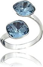 bague swarovski pierre bleue