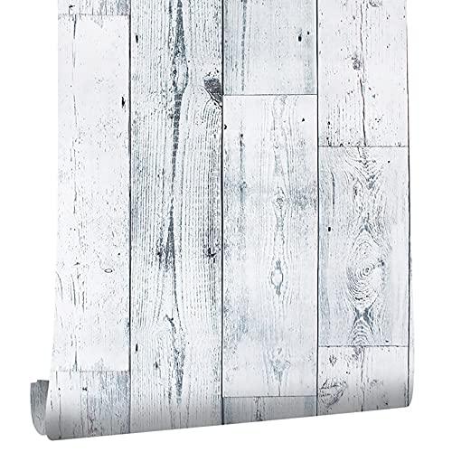HOLSKEAT Papel Pintado Madera Papel Pared Vinilo Autoadhesivo para Muebles Papel Tapiz Impermeable Papel de Pared Adhesivo para Muebles 0.45x6m