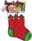 Bucilla Felt Stocking Applique Kit 18' Long-Holiday Teddy