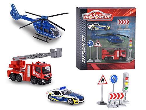 Majorette 212058585 - Theme Set SOS, Miniaturfahrzeug