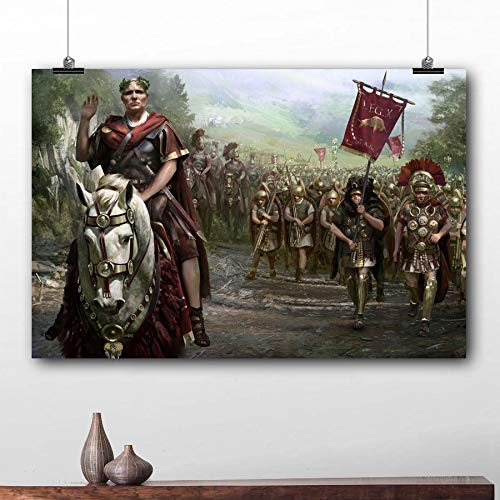 BPHMZ Cuadros colgados de Juegos de vídeo Cartel de la Guerra Roma II Total del Papel Pintado Imprime Cuadro de la Pared Arte de la Lona for la Sala de decoración decoración de Pared