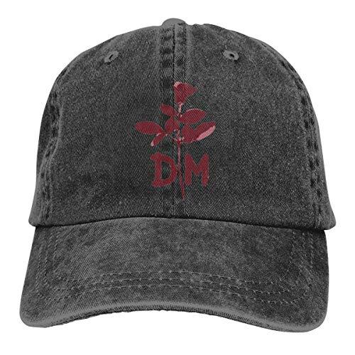 QKMKO Depeche DM Mode Unisex Vintage Washed Distressed Baseball-Cap Twill Adjustable Dad-Hat Black