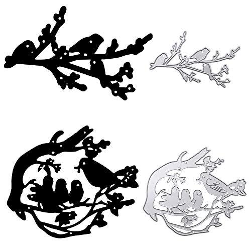 2Pcs Troqueles Scrapbooking Animales Pájaro Troqueles de Corte Metal de Pájaro Plantillas Troquelar Cutting Diesde Animales para Álbum Recorte Artesanía Papel DIY Manualidad (Pájaro)