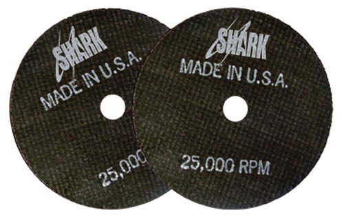 Shark Welding 12705 Shark Cut-Off Wheels, 3-Inch by 1/16-Inch by 3/8-Inch, 50-Pack, 54-Grit