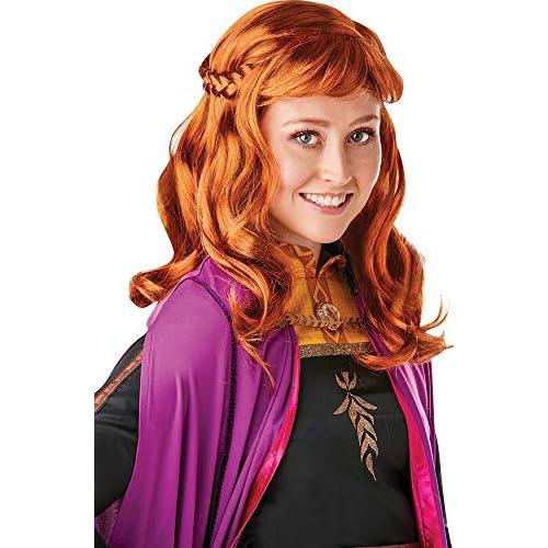 Rubie's - Parrucca ufficiale Disney Frozen 2, Anna da donna, taglia unica
