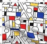 Geometrisch, Abstrakt, Geometrie, Mondrian, Bauhaus, Rot