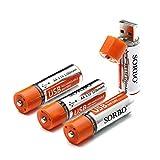 faith ism SORBO USB かんたん 充電 リチウム イオン ポリマー 電池 単3形 AA 電池 サイズ 1.5V 1200mah 高出力 大容量 4本 セット ◇SB-21-AA-X4