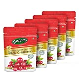 Happilo Premium Californian Whole Cranberries Dried & Sweet Pouch, 5 X 200 g