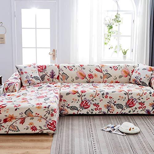 WXQY L-Form muss 2 Stück Sofabezug, elastische Sofa Handtuch Sesselbezug, für Ecksofa Möbelschutzbezug A4 3-Sitzer bestellen