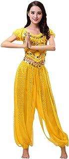 Hzjundasi Mujer Disfraz de Danza del Vientre Set - Bailando