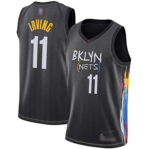 ZGRW Durant Irving - Camiseta de baloncesto para hombre, diseño de Nets #7#11 temporada 2021, color negro