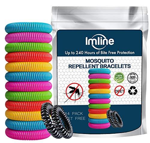 Muggenwerende armband (14 stuks) muggenarmband ter bescherming tegen muggen, camping, wandelen, accessoire voor kinderen en volwassenen